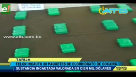 Tarija. Incautan droga valuada en 100 mil dólares
