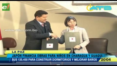 Japón financia proyectos para los niños de Charagua y Guaqui