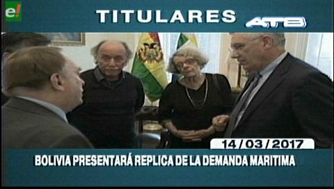 Video titulares de noticias de TV – Bolivia, mediodía del martes 14 de marzo de 2017