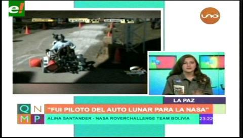 Joven boliviana diseñará, construirá y manejará un auto Lunar