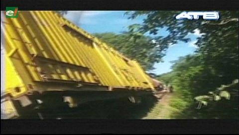 Un tren se descarrila en Villamontes