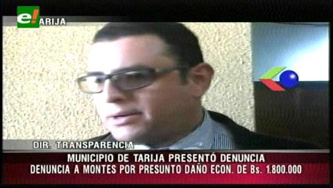 Denuncian al ex alcalde de Tarija Oscar Montes por daño económico
