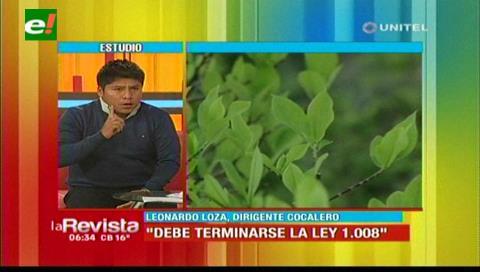 Leonardo Loza: «La ley 1008 debe terminarse»
