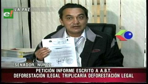 UD pide a la ABT un informe sobre deforestación ilegal en el país entre el 2000 y 2005