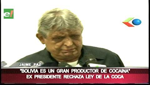 Paz Zamora: «Bolivia es un gran productor de cocaína»