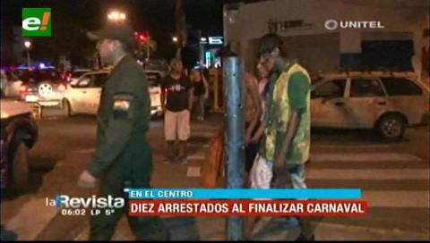 La Policía detuvo a 10 personas que causaron disturbios en pleno centro cruceño