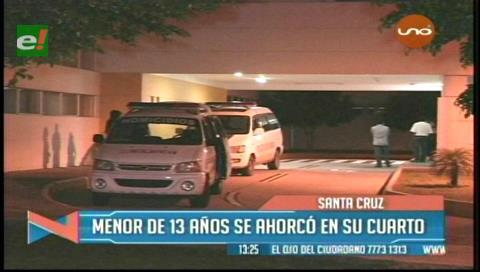 Santa Cruz: Adolescente de 13 años se ahorcó en su domicilio