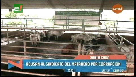 Denuncian corrupción en el Matadero Municipal de Santa Cruz