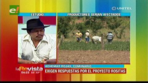 Pobladores de Vallegrande molestos con el Gobierno por el proyecto Rositas