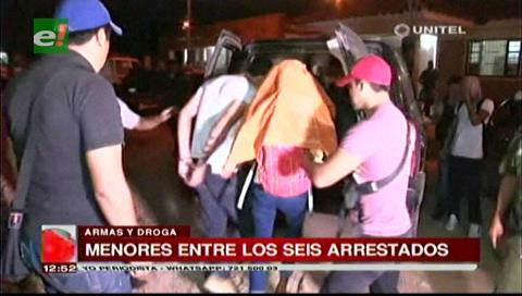 Santa Cruz: Detienen a estudiantes con droga y armas dentro de un colegio