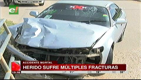 Grave accidente deja una persona fallecida y un herido de gravedad