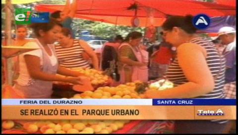 Más de 50 expositores participaron de la sexta versión de la Feria del Durazno