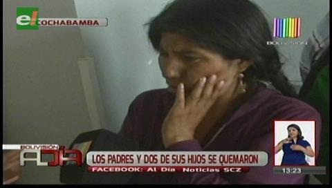 Familia sufre graves quemaduras por explosión de una garrafa en su vivienda