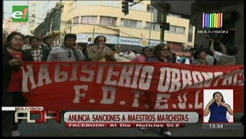 Federación de Maestros Urbanos rechaza sanciones a marchistas