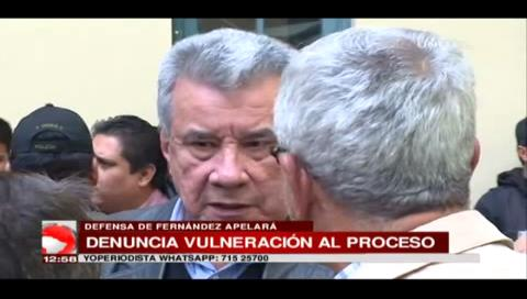 Oposición rechaza determinación de no computar detención domiciliaria de Leopoldo Fernández