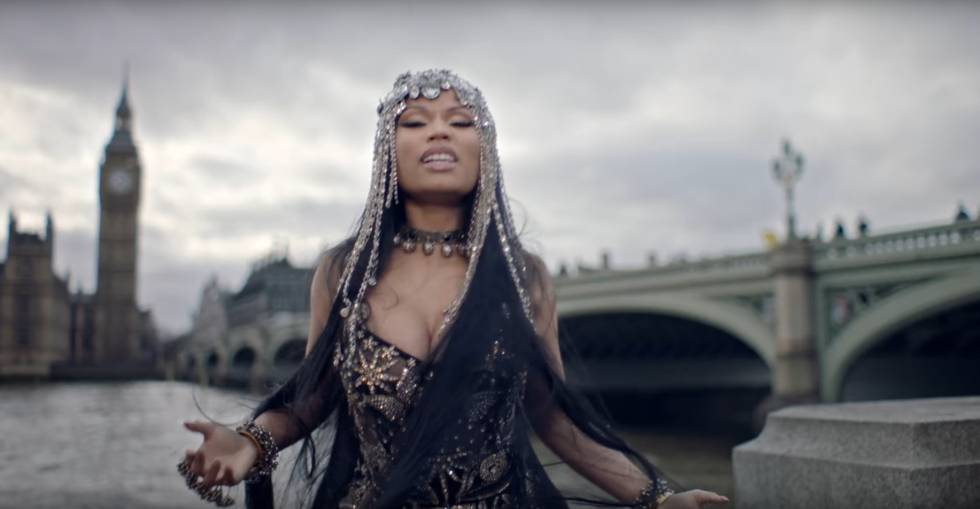 Captura del videoclip de Nicki Minaj