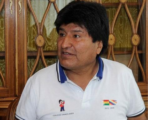 El presidente de Bolivia, Evo Morales Ayma en la residencia presidencial de la zona San Jorge.