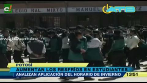 Potosí. Solicitan aplicación de horario de invierno en colegios