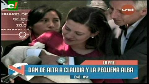 Claudia Fernández recibe el alta médica tras dar a luz a Alba