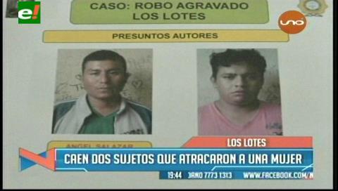Detienen a dos presuntos ladrones que habrían atracado a una mujer