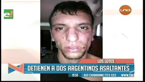 Vecinos capturan a dos argentinos acusados de robo