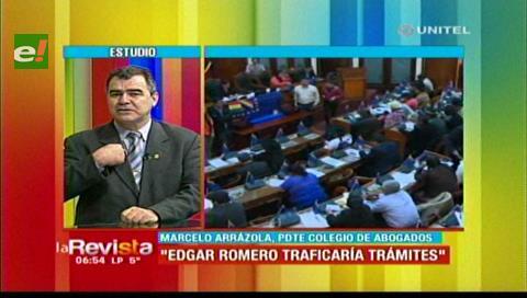 Cargos judiciales: Arrázola emplaza a diputado Romero a demostrar si recomendó a una persona