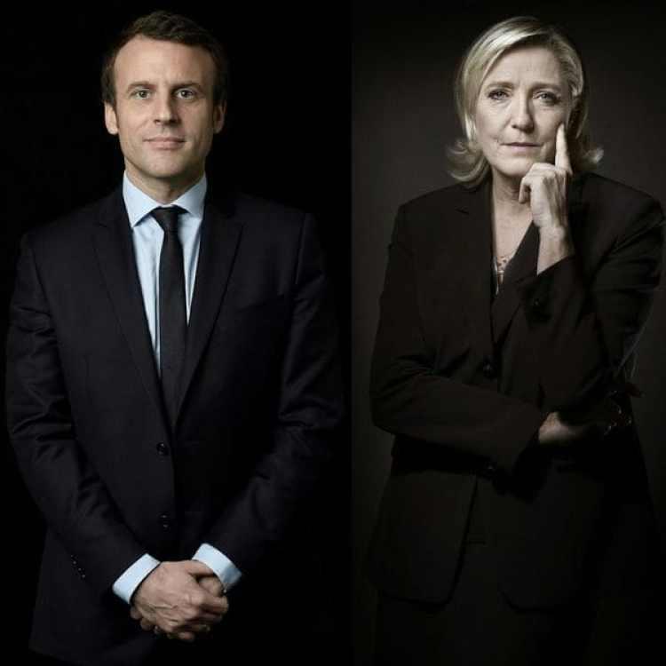 Emmanuel Macron y Marine Le Pen (AFP)