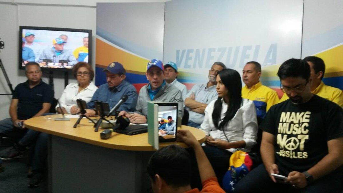 Unidad presenta agenda de protestas para toda la semana