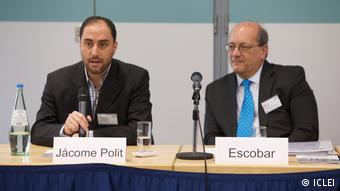 Deutschland Bonn - Globales Forum - Resilient Cities 2017: Podium mit Sergio Escobar (Medellin) und Jácome Polit (Quito) (ICLEI)
