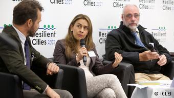 Deutschland Bonn - Globales Forum - Resilient Cities 2017:Podium mit Alexandra Rodríguez, Quito (ICLEI)