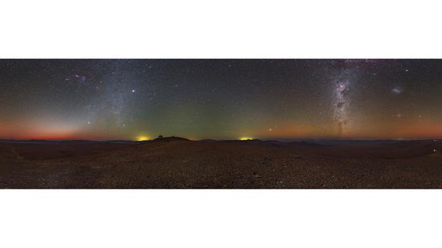 Fotografía nocturna del Cerro Armazones
