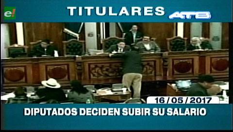 Video titulares de noticias de TV – Bolivia, mediodía del martes 16 de mayo de 2017