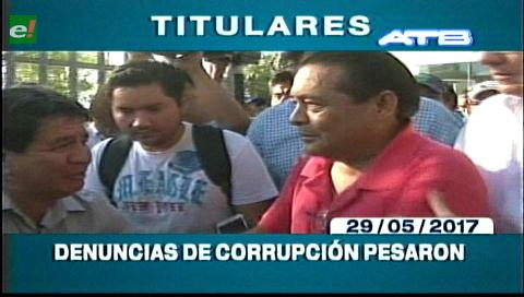 Video titulares de noticias de TV – Bolivia, mediodía del lunes 29 de mayo de 2017