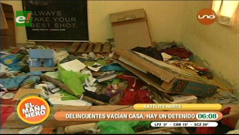 Delincuentes vacían un domicilio ubicado en Satélite Norte