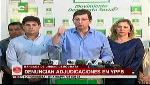 Demócratas respalda al diputado Monasterio y rechaza amenazas del presidente de YPFB