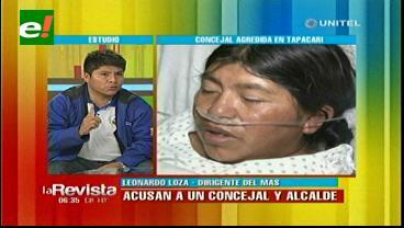 El MAS anuncia investigación por agresión de concejal en Tapacarí