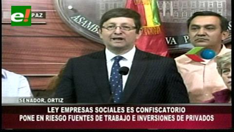 """Ley de Empresas Sociales: Senador Ortiz lo califica como un proyecto """"confiscatorio"""""""