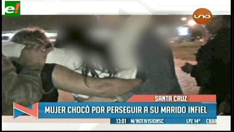 Mujer chocó a cuatro vehículos por perseguir a su marido infiel