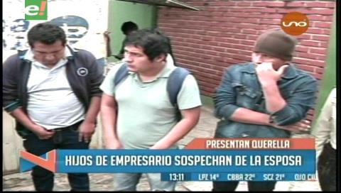 Hijos del empresario soyero sospechan de la esposa, presentaron una querella contra la mujer