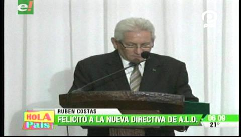Rubén Costas destaca liderazgo de la juventud en la Asamblea Departamental