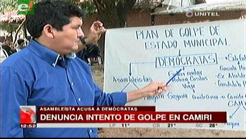 Muñoz acusa a Demócratas de intentar un golpe de Estado municipal en Camiri