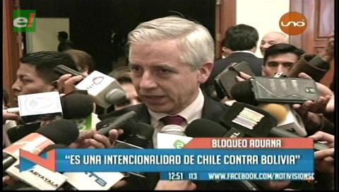 García Linera y el paro aduanero: «Hay una intencionalidad de Chile contra Bolivia»