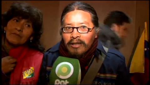 La Paz: 30 organizaciones afines al MAS apoyaron a Maduro con plantón frente a Embajada de Venezuela