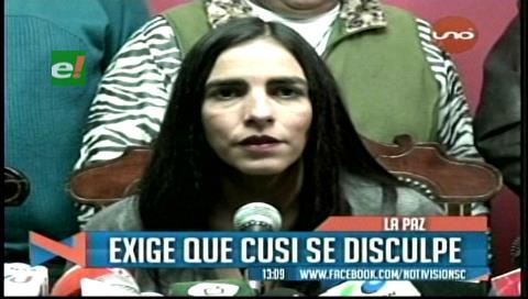 Presidenta de Diputados pide que Cusi se disculpe por escupir a Victor Borda
