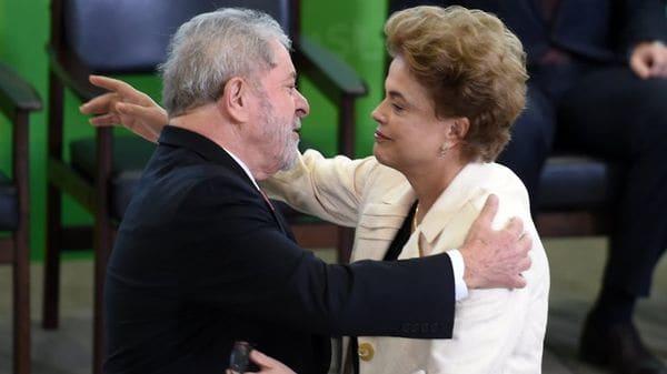Lula da Silva junto a Dilma Rousseff (AFP)