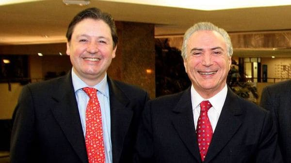 El diputado Rodrigo Rocha Loures junto a Temer; fue detenido el sábado por el mismo caso de corrupción que salpica al presidente