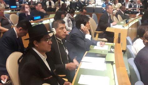 El presidente Evo Morales participa de la Primera Conferencia sobre los Océanos en la ONU.