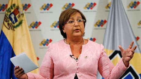 La presidente del Consejo Nacional Electoral, Tibisay Lucena, 9 de agosto del 2016.