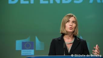 Federica Mogherini, jefe de la diplomacia de la UE.