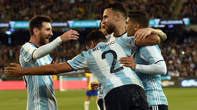 El festejo de Messi con Mercado